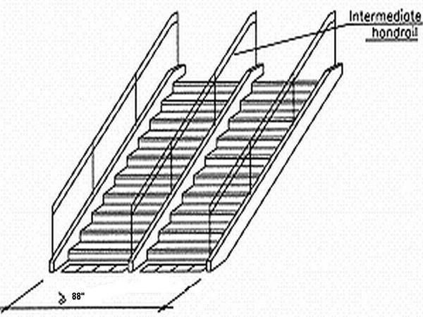 intermediate handrail
