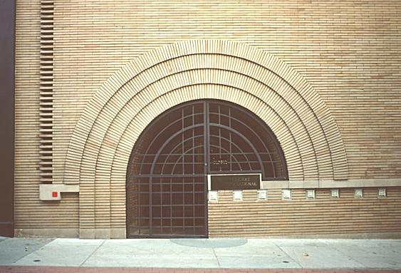 frank lloyd wright san fran brick arch