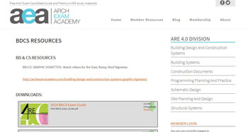 Arch Exam Academy Resource Pages